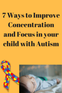 concentration and focus with autism