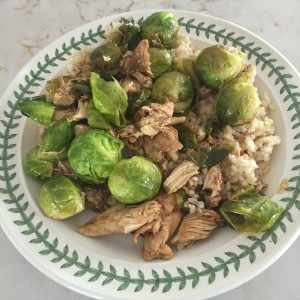 gluten free chicken and brussel sprouts