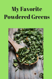 My Favorite Powdered Greens