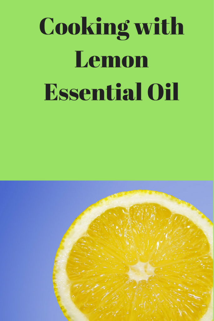 cooking with lemon essential oil