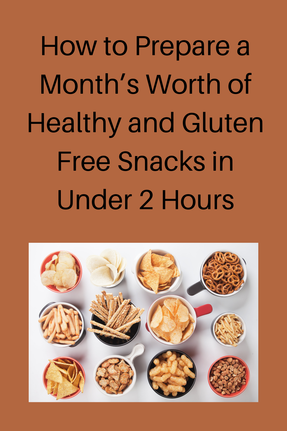 How to prepare a month's worth of healthy and gluten free snacks in under 2 hours