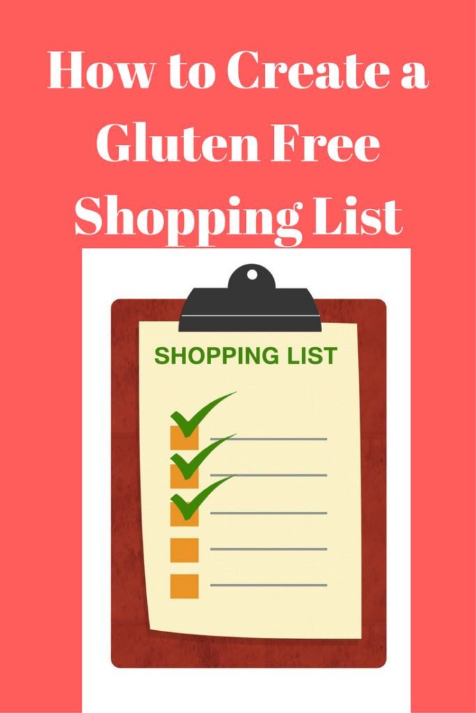 gluten free shopping list