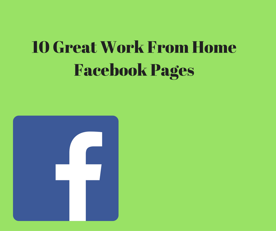 work from home Facebook pages