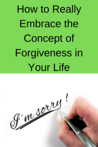 forgiveness in your life